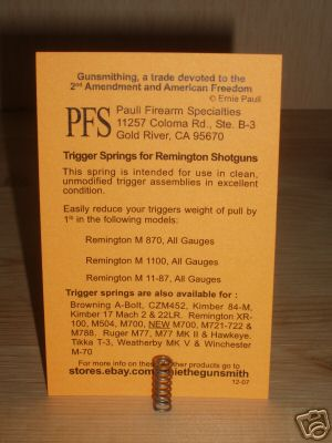 Trigger Springs for Shotguns